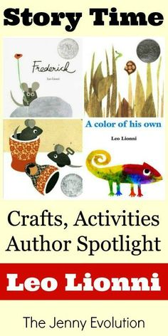 Leo Lionni Books: Author Spotlight, Crafts and Activities | The Jenny Evolution
