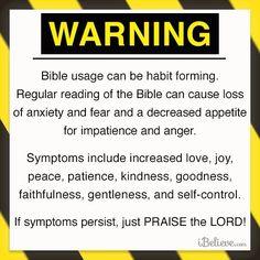 Bible reading warning