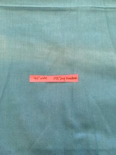 "44"" wide 148"" (4.11 yards) long blue broadcloth. Location coral tote 3."