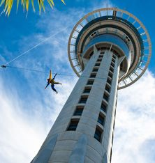 Base Jumping Off the Sky Tower