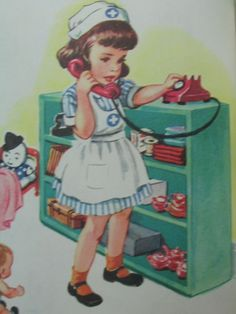 Vintage Little Golden Book - Nurse Nancy... my all time favourite ....