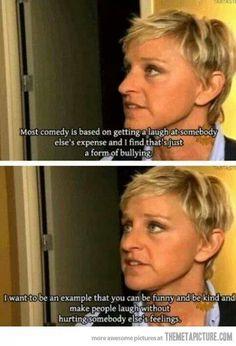 Ellen's comedy is nice