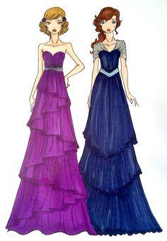 ドレスのスケッチ, ファッションイラストドレス, ファッションイラスト, 簡単にファッション, コンセプトイラスト, デザイナーのドレス, Ux /  Uiデザイナ,