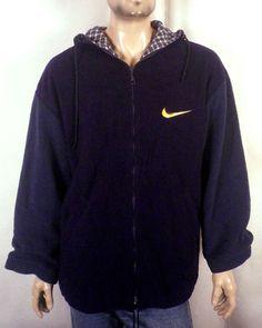 00ebe5cb3967d3 vtg 90s Nike Heavy Fleece Colorblock Jacket Hooded hip hop Space Jam Jordan  M Ropa Hip