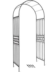 Formal and stately without being stuffy, this garden arch beckons visitors to the garden and beyond. For vines or simply an architectural feature. Garden Arch Trellis, Wisteria Trellis, Garden Archway, Wall Trellis, Vine Trellis, Garden Entrance, Delphinium Plant, Metal Arbor, Arch Gate