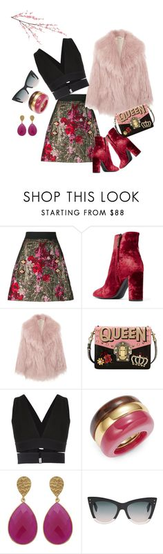 """Pink Life"" by maria-stefania-cristescu on Polyvore featuring Dolce&Gabbana, Yves Saint Laurent, Miu Miu, Osklen, Trina Turk, Fendi and Pier 1 Imports"