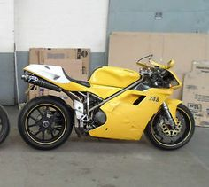 Yellow Ducati 748 With MV Augusta Wheels
