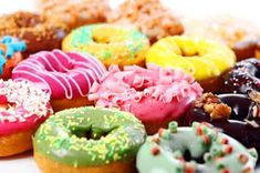 """You can't buy happiness but you can buy donuts, and that's kind of the same thing."" - Unknown Enjoy colorful bake on National Donut Day! Flash Facts, National Donut Day, Donut Shop, Pastry And Bakery, Donut Recipes, Eat Dessert First, Non Profit, Doughnut, Donuts"