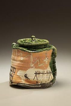 SUZUKI Goro (b. 1941)  Narumioribe water jar, 1999  Glazed stoneware  8 1/2 x 8 1/4 inches  Inv# 7049  SOLD