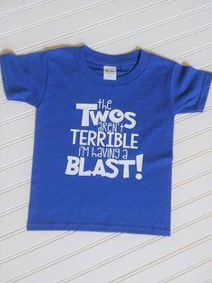 The Twos Arent Terrible Im Having A Blast Birthday Shirt Boys 2nd Childrens