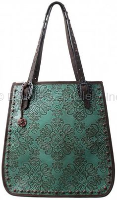 Vintage Green Floral Doctor's Bag by Double Saddlery.