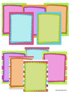Art paper border design