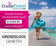 Bij Cruisetravel.nl de grootste (on-line) aanbod van de mooiste cruises. Ze zijn agent voor vele gerenommeerde cruisemaatschappijen. Dat betekent voor u dat ze in nauw contact staan met de rederijen zelf en u het beste aanbod kunnen doen op alle cruises. www.vakantiereizenboeken.nl