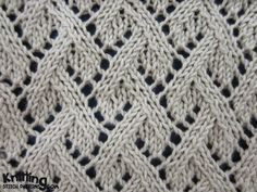 Grapevine Lace stitch | knittingstitchpatterns.com