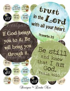 CHRISTian Inspirational 1 inch Rounds Images by DesignsbyLindaNee, $3.95