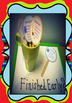 early finishers task cards!
