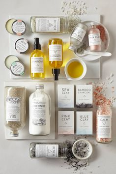 Herbivore Botanicals ~ natural products using clays, minerals, herbal infusions, essential oil, teas and natural butters in place of artificial ingredients, synthetic fragrances and dyes,  with minimal packaging in a light color wash and simplified typography | Herbivore Botanicals