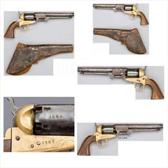 A Rare, CapturedConfederate PistolGriswold and Gunnison#1567 Macon, Georgia, August 1863 in CSA holster.  This rare, capturedGriswoldandGunnison#1567 still has residue of burnt powder in four of the six cylinder chambers. It was found in Michigan, and was likely captured during the Battle of Atlanta to be brought north as a war trophy. From the famous Wiley Sword collection.  A Rare, Captured Confederate Pistol in excellent condition and well struck with all matching serial numbers…