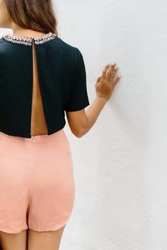 DIY Backless Crop Top