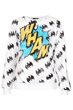 Love this Topshop Batman 'Wham sweatshirt $58, get it here: http://rstyle.me/~oMlL