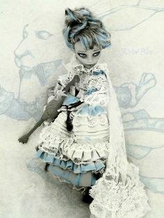 puppet:    Looking for the Blue rabbit (by NylonBleu) - ooak monster high doll