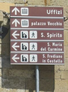 sign in Florence Italy