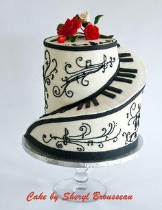 Piano cake by mavrica