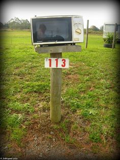 When a microwave will do as a mailbox. Funny mailboxes