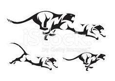 Resultado de imagem para tigre tattoo preta
