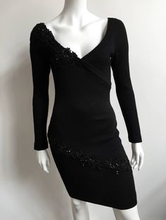 Patrick Kelly 80s black evening dress