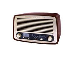 Sunstech RPR4000WD – Radio de sobremesa AM/FM (alarma, USB, SD, MMC, Aux-in, 3 W RMS), diseño retro de madera - http://vivahogar.net/oferta/sunstech-rpr4000wd-radio-de-sobremesa-amfm-alarma-usb-sd-mmc-aux-in-3-w-rms-diseno-retro-de-madera/ -