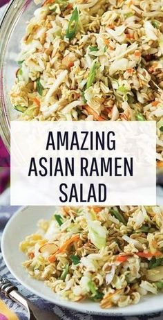 Ridiculously Amazing Asian Ramen Salad #Noodle #Noodle Recipes #RidiculouslyAmazingAsianRamenSalad | Quotes Recipes