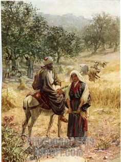The Book of Ruth in the Bible | Boaz and Ruth in the Book of Ruth . Boaz allows Ruth to glean from his ...