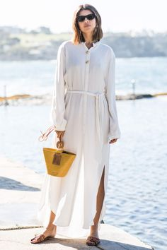 VERY VERSATILE Ideal for in the city and at the beach, a light shirt dress will be one of the hardest-working pieces in your vacation wardrobe
