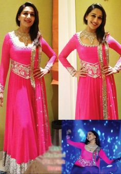 MADHURI DIXIT IN PINK BOLLYWOOD REPLICA ANARKALI