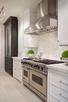 backsplash, lighting, counter top Joy Tribout Interior Design