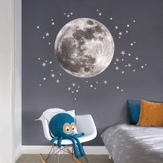 Wall Stickers - Quick & Easy DIY Children's Bedroom Decor | Encouraging children to have a sense of adventure can be as easy as popping a wall sticker on their wall. #wallstickers #nurserydecor #moon #nurseryideas #childrensbedrooms #homedecor #decor #interiorinspo #interiordesign #wallideas #nursery