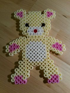 Teddy  hama beads by Thea P.