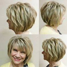 30 popular short hair pictures - New Ideas - 30 Popular Short Layered Hair Images Short layered hair with - Layered Hair With Bangs, Short Layered Haircuts, Layered Bob Hairstyles, Short Layered Bobs, Stacked Haircuts, Med Layered Hair Cuts, Round Face Short Haircuts, Hair Cuts Short Layers, Short Hairstyles With Bangs