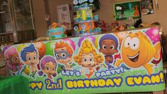 Personalized Bubble Guppies Birthday Banner by designsbyluvly73, $35.00