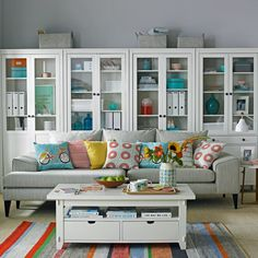 Find stylish living room storage ideas with our photo gallery. These fabulous living room storage ideas have the power to transform your room in an instant Glam Living Room, Living Room Furniture, Living Room Decor, Living Rooms, Living Spaces, Furniture Storage, Furniture Ideas, Small Living Room Storage, Living Room Inspiration