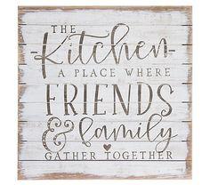 Kitchen Sign Diy, Farmhouse Kitchen Signs, Kitchen Quotes, Cute Kitchen, Kitchen Wall Art, Farmhouse Decor, Kitchen Wood, Kitchen Wall Decor Rustic, Kitchen Vinyl Sayings