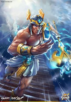 """Hermes Card artwork for the game """"Dawn of Gods"""""""
