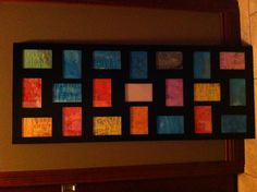 Class project for auction.  Crayon drawing, watercolor on top.  Kindergarten.  Sorry no link, just the photo.