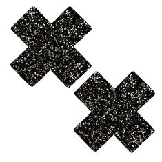 Super Sparkle Tinsel Town Black - Silver Chunky Glitter X Factor Nipztix Pasties Nipple Cover Santa Monica, Hold Up Stockings, Body Stickers, Swimsuit Material, Haut Bikini, White Glitter, Latex Free, Spice Things Up, Black Silver