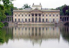 Pałac Na Wodzie w Łazienkach Królewskich, Warszawa, fasada północna, Kamsetzer