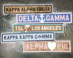 Nothing completes a room like one of our vintage signs! These house and MANY more available on site | Kappa Alpha Theta | Delta Gamma | Kappa Kappa Gamma | Alpha Phi