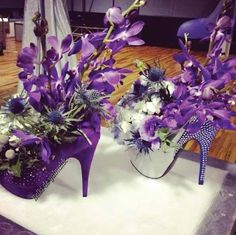 High Heel Floral Centerpieces For A Priscilla Queen Of The Desert Themed Party