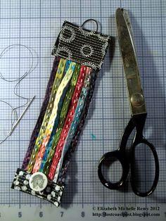 Fabric sewn bracelet #fatquarter