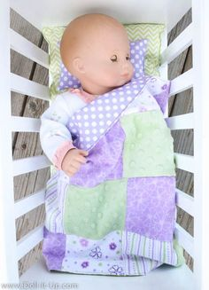Making Bedding for Baby Doll - Doll It Up                                                                                                                                                                                 More